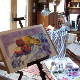 Painting on Easel