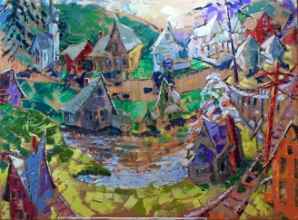 The Village, Catskill Mountain Life series, no. 10, private collection