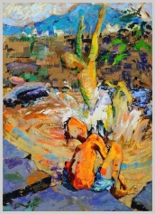 Swimming Hole, Catskill Mountain Life series, 3, 52x37 in.