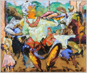 The Feast, Catskill Mountain Life Series, 3, private collection