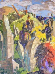 Funeral, Catskill Mountain Life series, 7, 37x50 in.