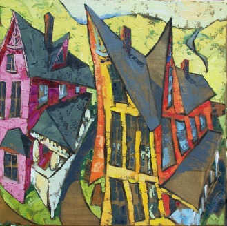 Good Neighbors, Catskill Mountain Life series, no. 14, 36x36 in.
