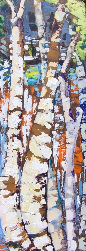 Birch Trees before Dam and Inn, private collection
