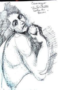 Autoritratto in Veste de Bacco, Villa Borghesia, Rome, 7-10 in.