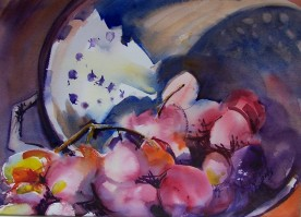 Grapes with Colandar, 10x14 in., private collection.