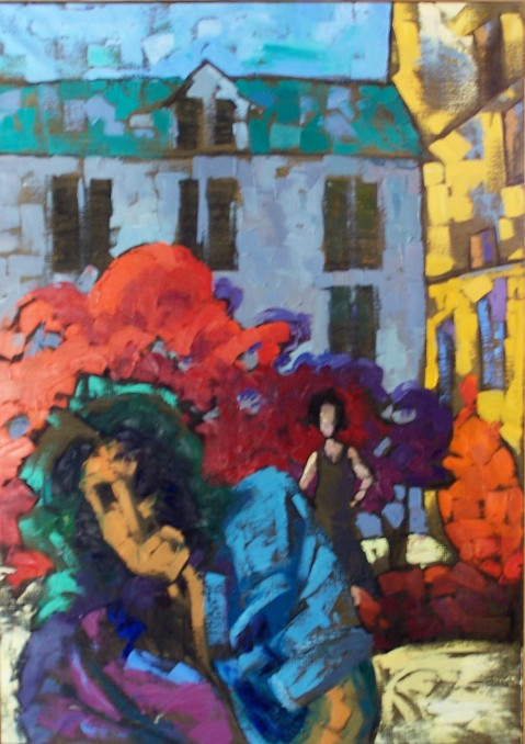 Paris Garden, 23x32 in.