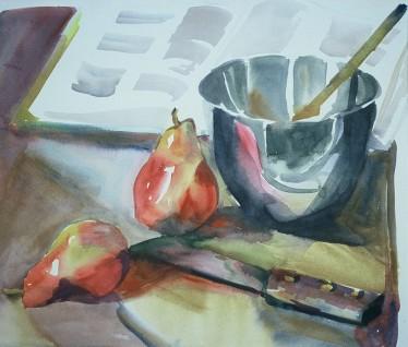 Pear Tart, 21x14 in.