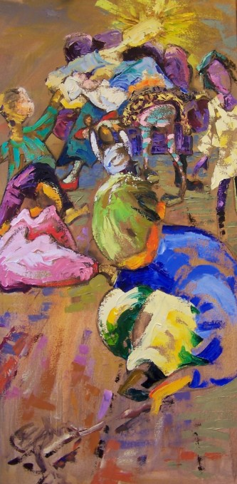 Lady Madonna, Children at Your Feet, 22x36""