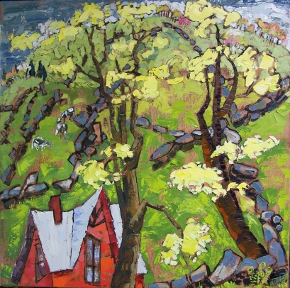 Spring Green with Walls, private collection