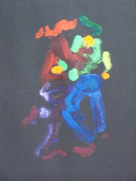 Dancing, Younger Couple, monoprint
