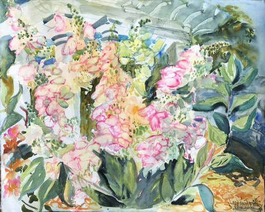 Oak Leaf Hydranga, Blythewood Garden, Bard College