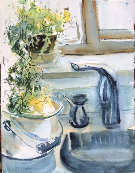 Kitchen Sink, Early Morning, no. 2. 14x10 in